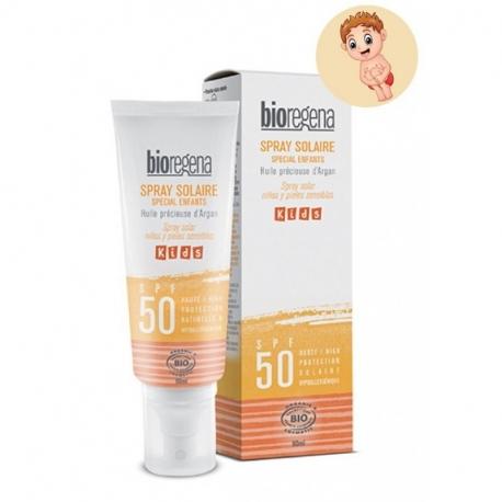 Lait solaire SPF50 spécial Enfants UVA & UVB- Water Resistant - 90 ml -BIOREGENA