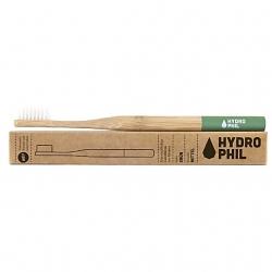 Brosse à dents adultes HYDROPHIL en bambou bague verte- médium