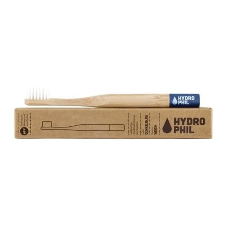 Brosse à dents enfants HYDROPHIL en bambou bague bleue- médium