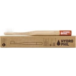 Brosse à dents enfants HYDROPHIL en bambou bague rouge- souple