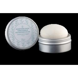 Shampoing-Conditionneur solide pour cheveux secs Autour du Bain dans sa boîte