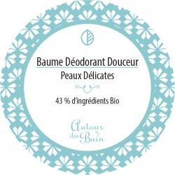 """Baume déodorant sans bicarbonate et sans huile essentielle """"Peaux sensibles"""" Autour du Bain - 50ml"""