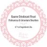 """Baume déodorant """"Fleuri""""sans bicarbonate et avec geranium et palmarosa Autour du Bain - 50ml"""