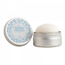 Shampoing-Conditionneur solide au monoï pour cheveux secs, bouclés-sensibilisés Autour du Bain - Recharge