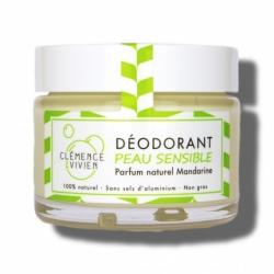 """Baume déodorant """"PEAUX SENSIBLES MANDARINE"""" Clémence et Vivien - 50g"""
