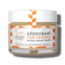 """Baume déodorant """"PEAUX SENSIBLES VANILLE"""" Clémence et Vivien - 50g"""