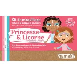 Kit de maquillage 3 couleurs -Princesse et Licorne-NAMAKI