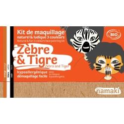 Kit de maquillage 3 couleurs -Zèbre et Tigre-NAMAKI