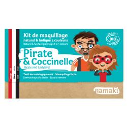 Kit de maquillage 3 couleurs -Pirate et Coccinelle-NAMAKI