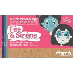 Kit de maquillage 3 couleurs -Fée et Sirène-NAMAKI