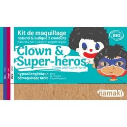 Kit de maquillage 3 couleurs -Clown et Super-héros-NAMAKI