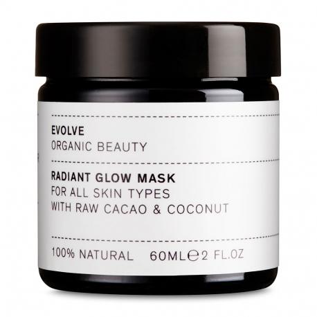 Masque exfoliant éclat cacao et coco pour tout type de peau-60ml-EVOLVE