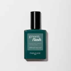 Top Coat GREEN FLASH Semi-permanent - 15ml -Manucurist