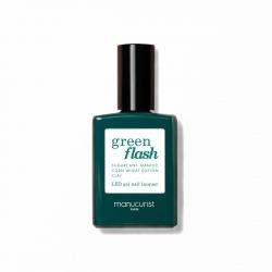 Vernis GREEN FLASH Semi-permanent-Snow- 15ml -Manucurist