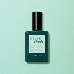 Vernis GREEN FLASH Semi-permanent-Snow- 15ml -Manucurist