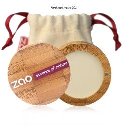 Fards à paupières mats  ivoire 201 ZAO Make Up - 8 coloris