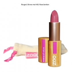 Rouge à lèvres Mats rose bonbon 461 ZAO Make Up - 8 coloris