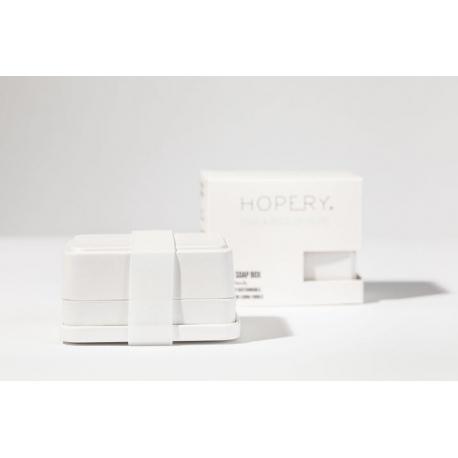 Boîte à savon éco-responsable Hopery coloris blanc