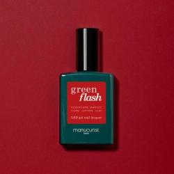 Vernis GREEN FLASH Semi-permanent- Pomegranate - 15ml -Manucurist
