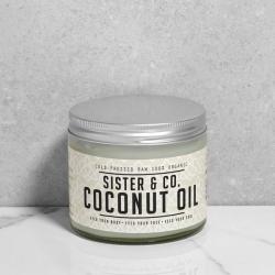 Huile vierge de noix coco bio Sister & Co pour visage, corps et mains